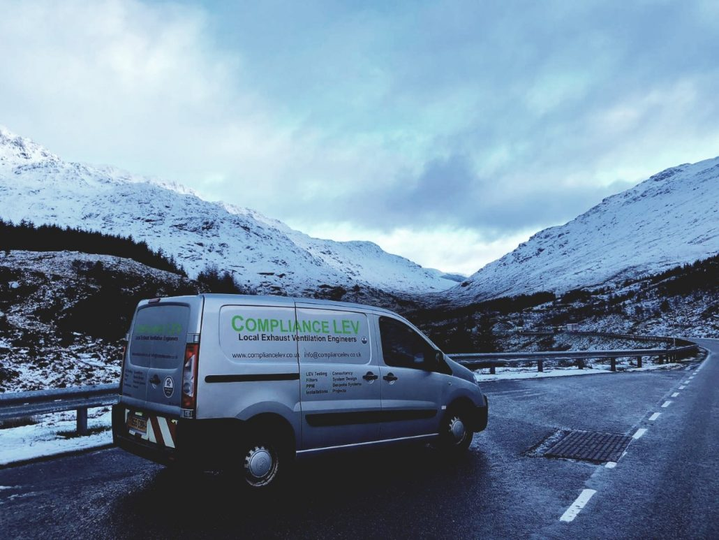 Compliance LEV deliver Local Exhaust Ventilation to Scotland.